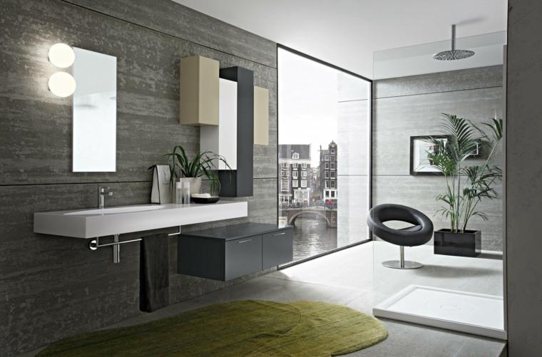 Baños Modernos Verdes:decoracion baños modernos alfombra verde ideas