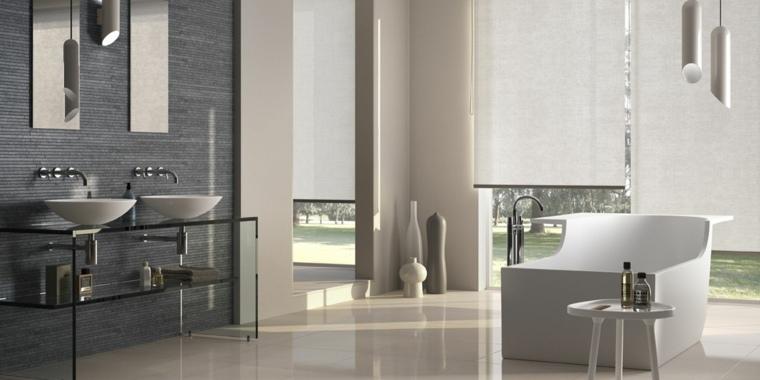 Decoracion ba os modernos 36 dise os espectaculares for Banos modernos con banera