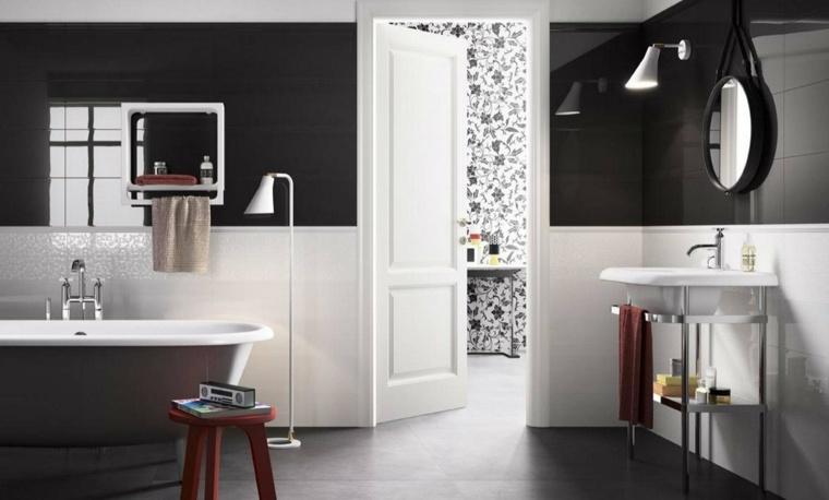 Decoracion ba os modernos 36 dise os espectaculares for Banos en blanco y negro