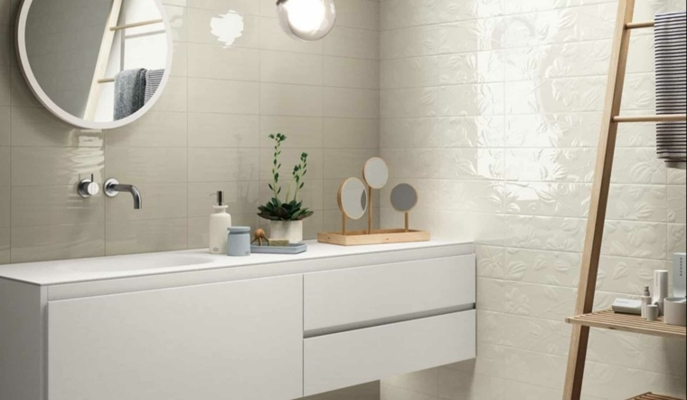 decoracion banos modernos lavabo precioso espejos madera ideas