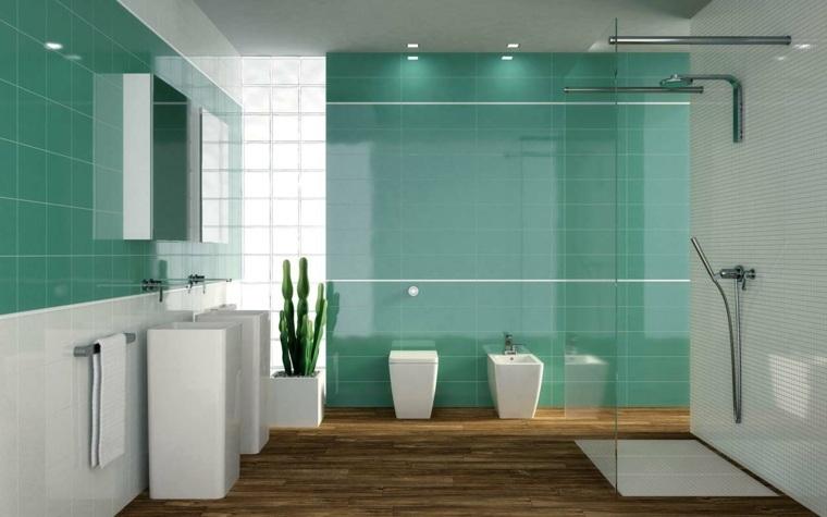 Baños Modernos Verdes:decoracion banos modernos verde llamativo ideas