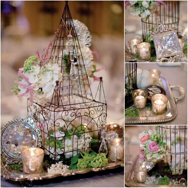 decoracion boda vintage flores cristales ideas