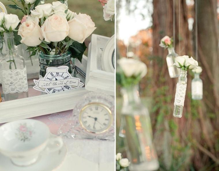 bonita decoraciñon adornos blancos
