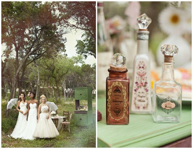 decoracion boda vintage tarros preciosos ideas