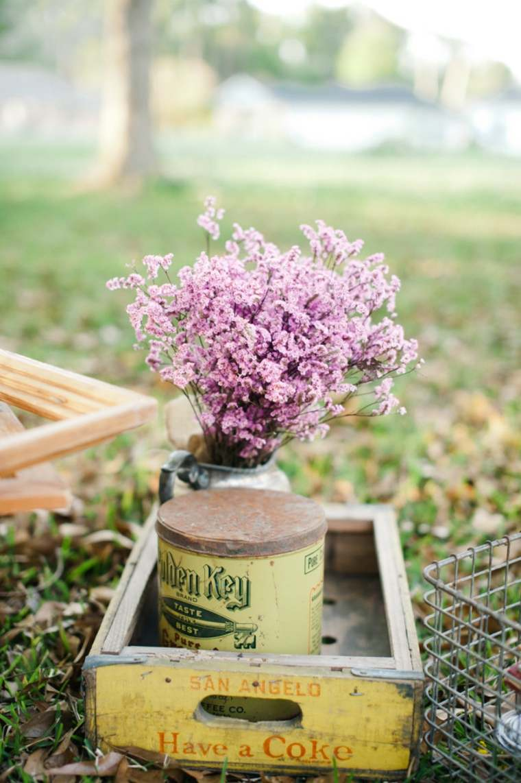 decoracion boda vintage caja madera flores ideas