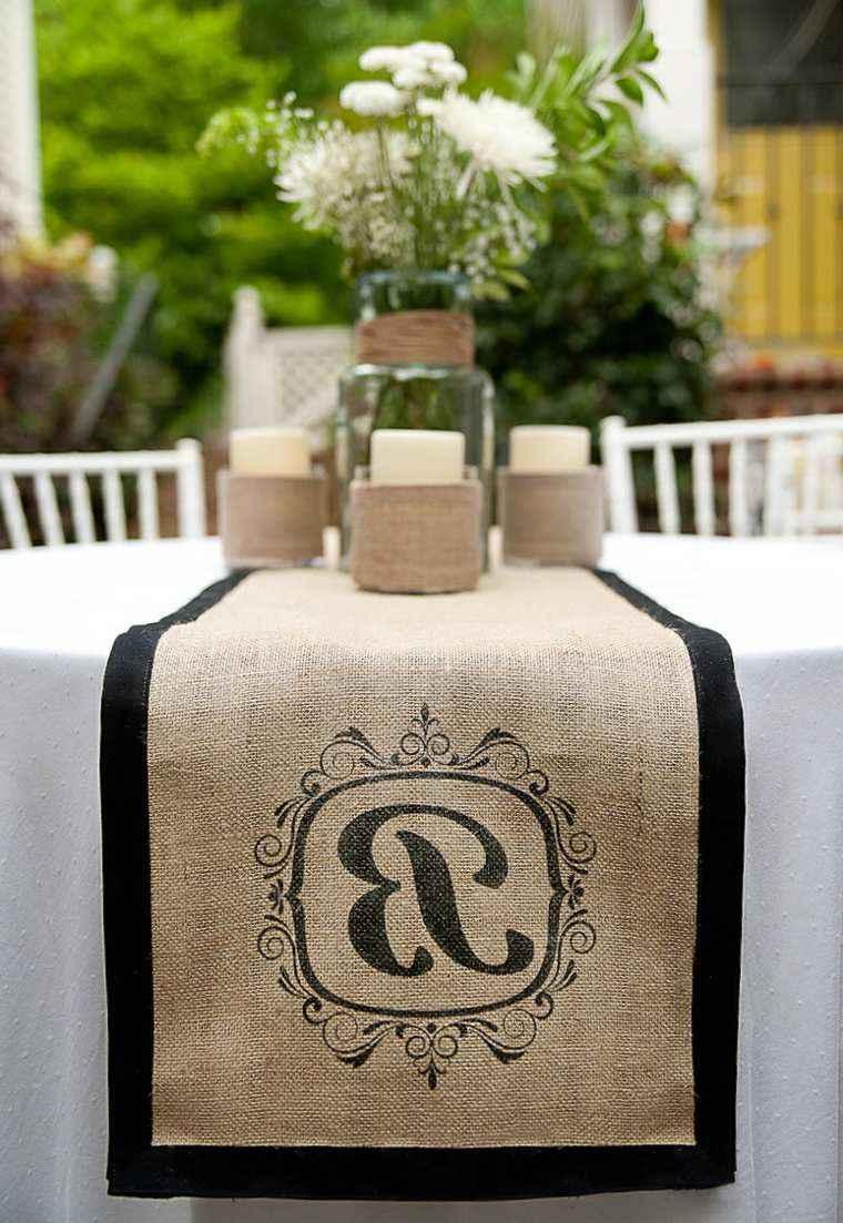 decoracion boda vintage camino mesa ideas