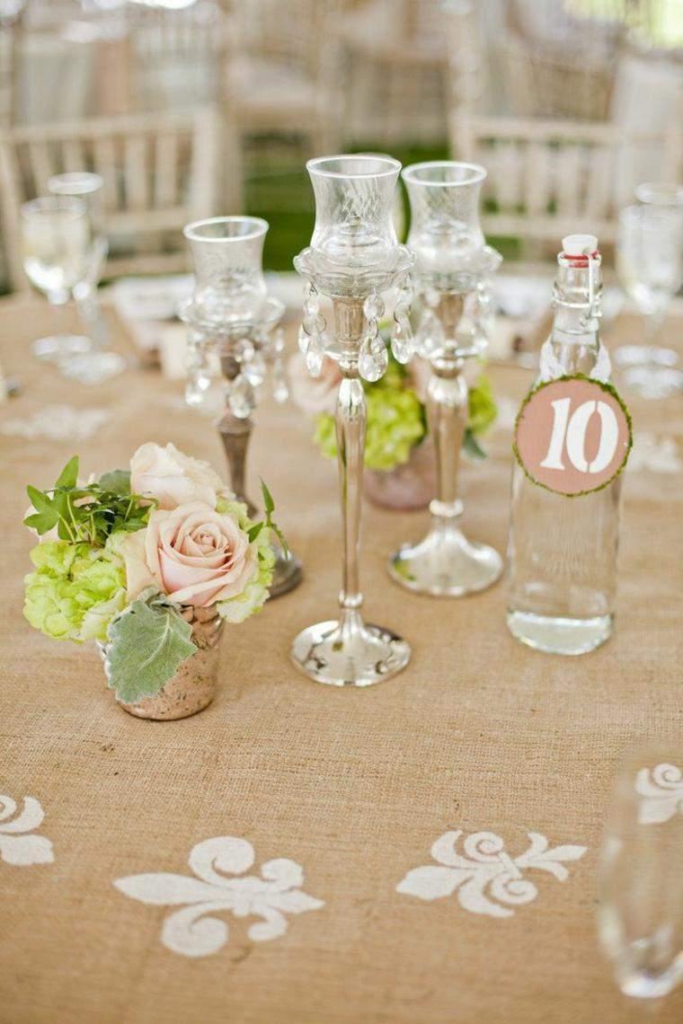 decoracion boda vintage candelabros cristal ideas