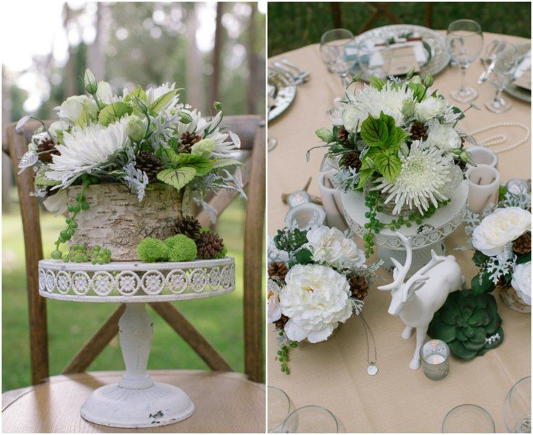 decoracion boda vintage centro mesa champan ideas