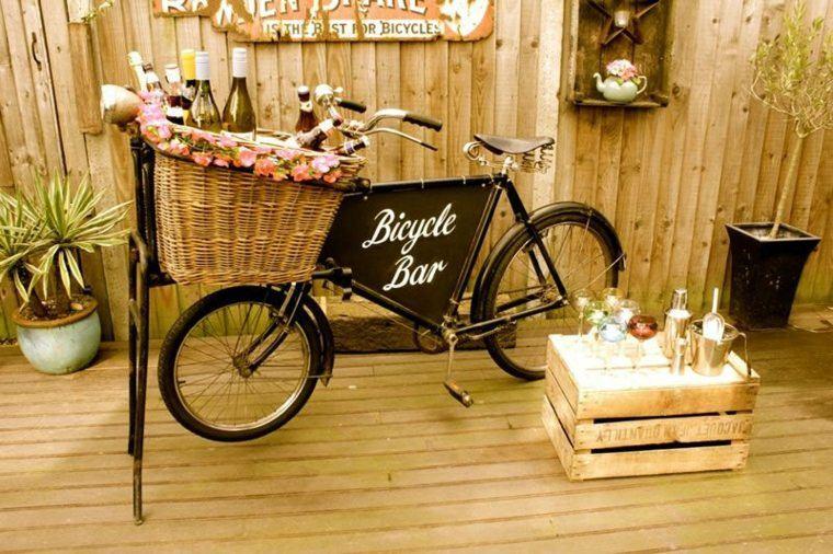 decoracion bodas vintage cesto bicicleta ideas
