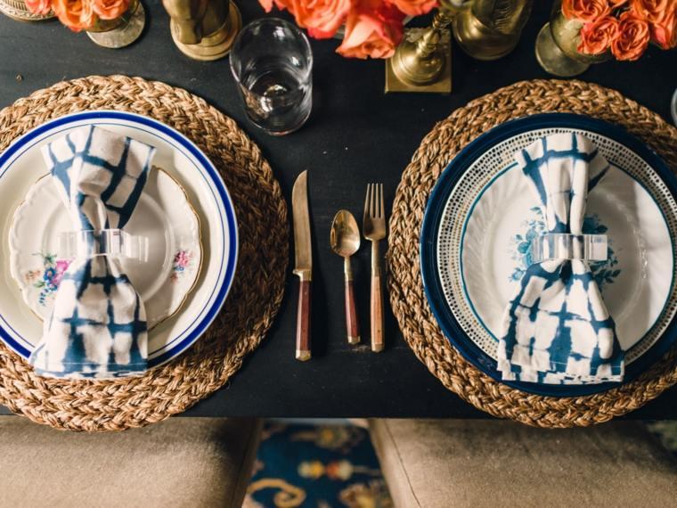 decoracion bodas vintage color azul distintas tonalidades ideas
