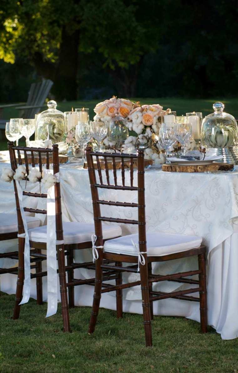 decoracion bodas vintage madera mesa centro ideas