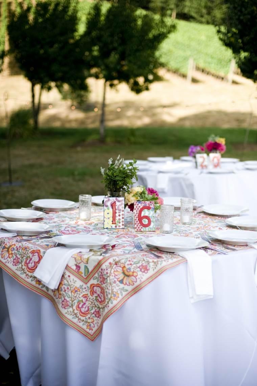 decoracion bodas vintage mantel colorido ideas