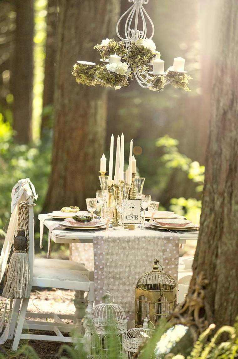 decoracion boda vintage mesa aire libre ideas