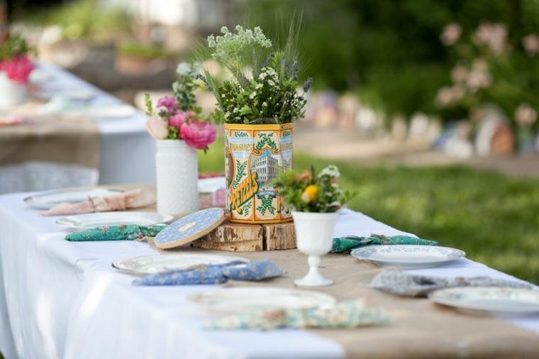 decoracion boda vintage mesa centro precioso ideas