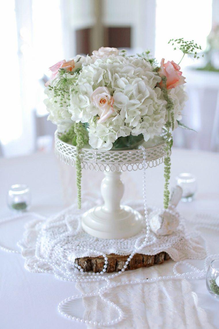 decoracion boda vintage mesa flores ideas
