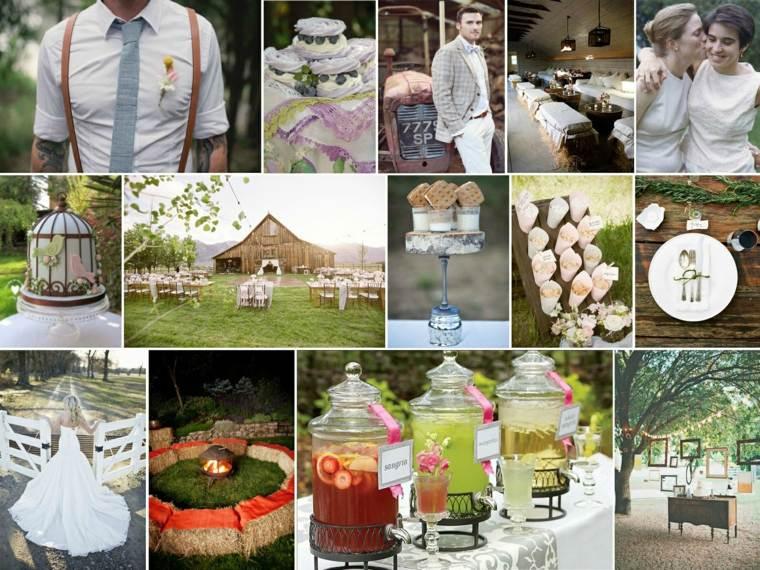 decoracion boda vintage opciones zumo dulces ideas