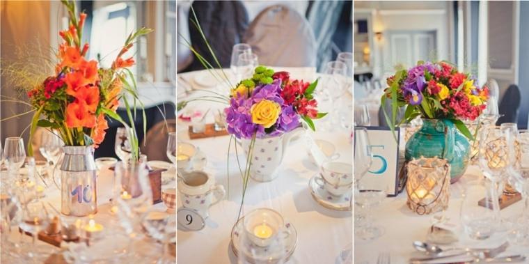 decoracion boda vintage opciones ramos mesa ideas