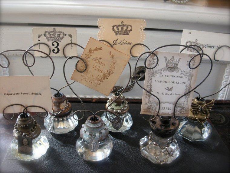 decoracion boda vintage opciones sujetar trajetas ideas