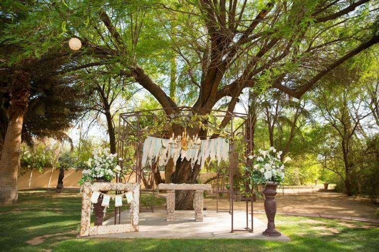 decoracion boda vintage pergola acero ideas