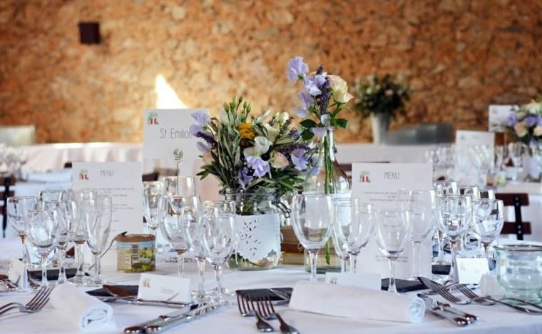 decoracion boda vintage ramos tarros ideas
