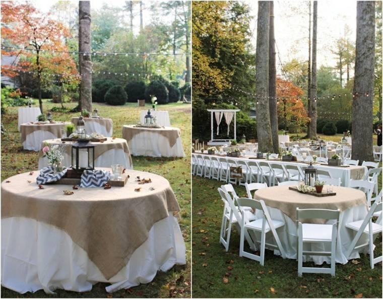 decoracion boda vintage rusticas candelabros negros ideas