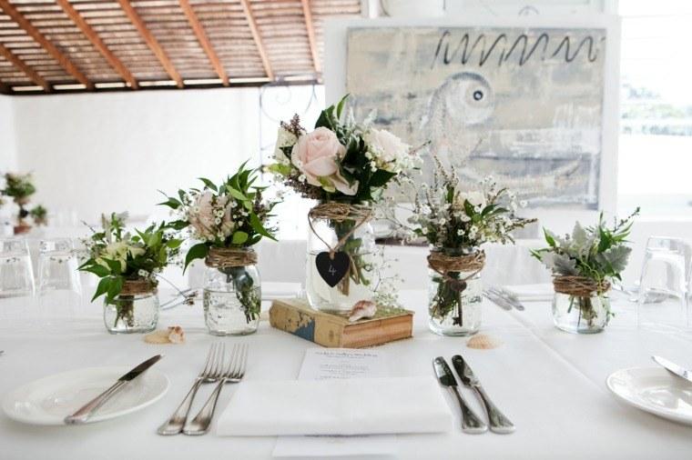 decoracion bodas vintage tarros cristal ideas