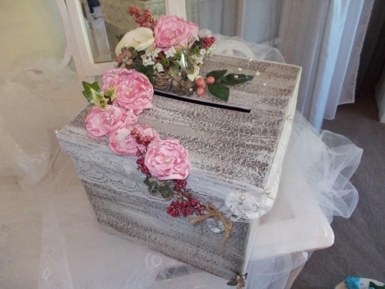 decoracion boda vintage urna felicitaciones ideas