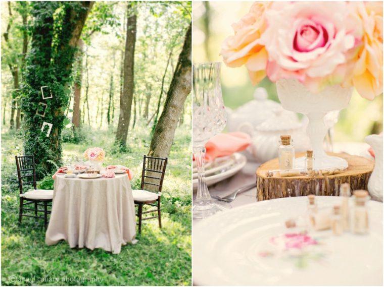 decoracion boda vintage vasos mesa exterior ideas