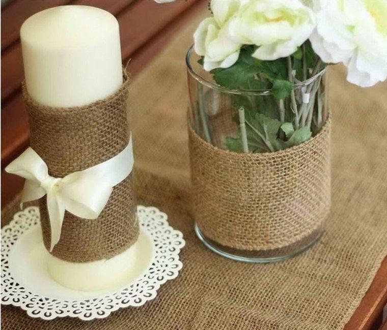 decoracion boda vintage velas tarros ideas