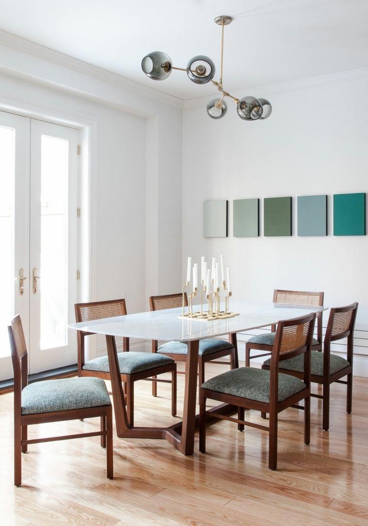 Decoracion comedor moderno en 36 dise os espectaculares for Adornos modernos para comedor