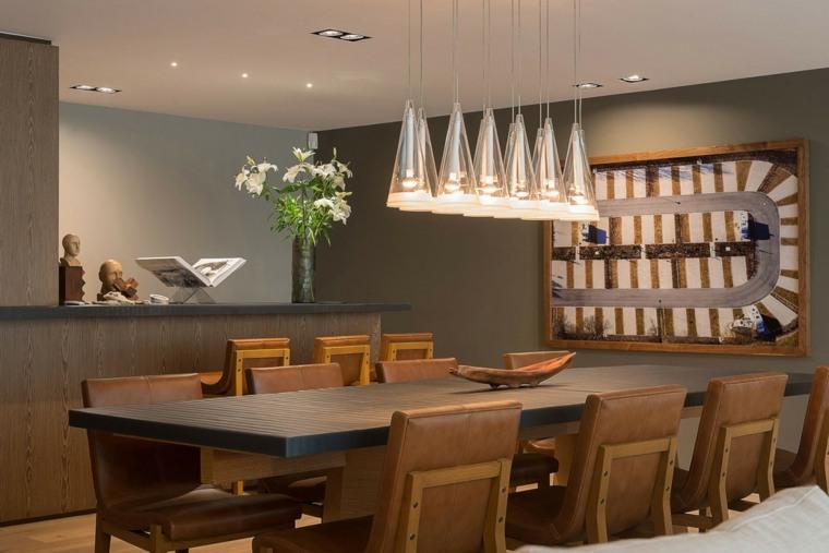 decoracion comedor moderno diseno cuadro pared ideas