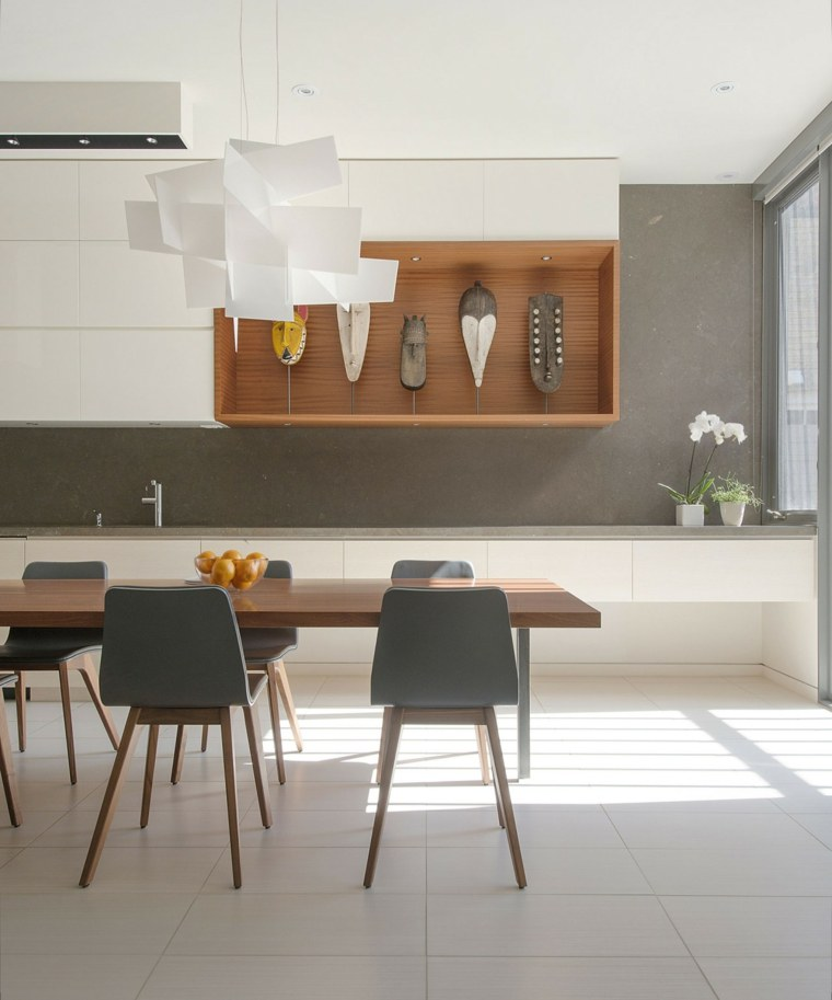 decoracion comedor moderno diseno detalles pared ideas