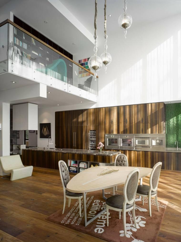 decoracion comedores moderno diseno forma mesa ideas