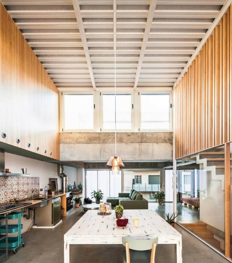 decoraciones comedor moderno diseno mesa grande blanca ideas