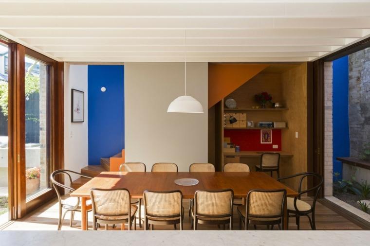 decoracion comedor moderno diseno mesa grande bonita ideas