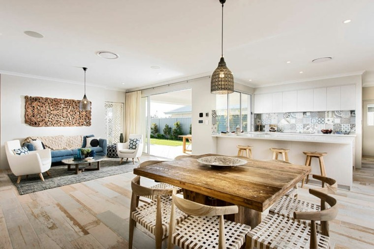 decoracion comedores moderno diseno muebles madera ideas