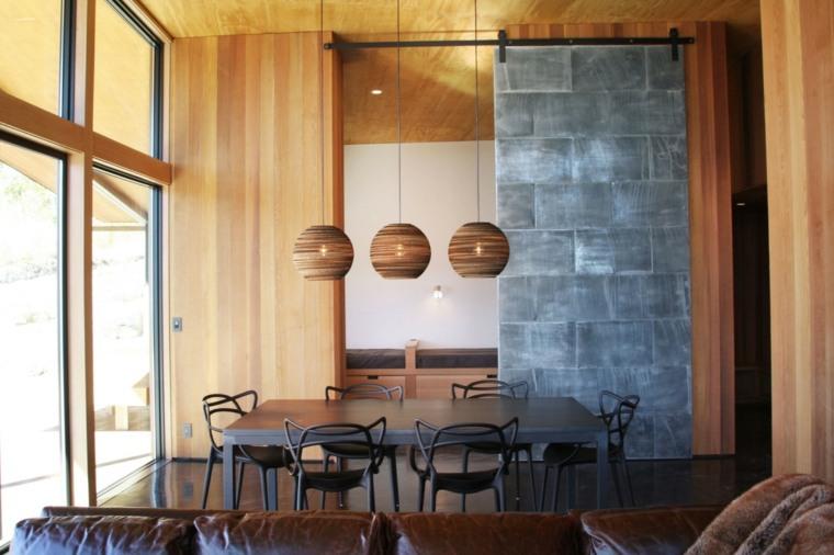 decoracion comedores moderno diseno muebles negros ideas