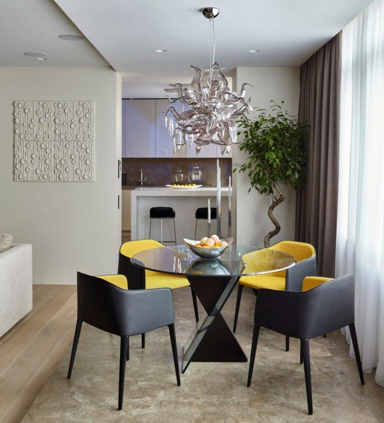 Decoracion comedor moderno en 36 dise os espectaculares for Comedor pequeno moderno