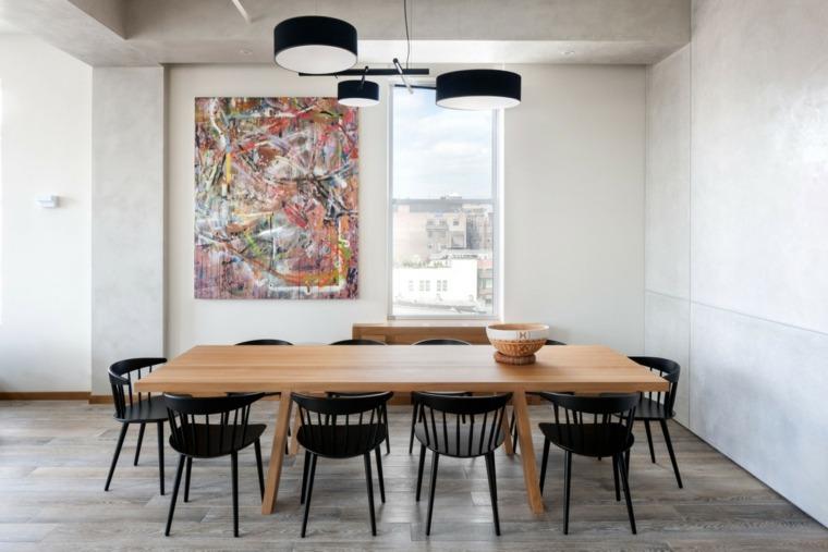 decoracion comedores moderno diseno sillas negras ideas