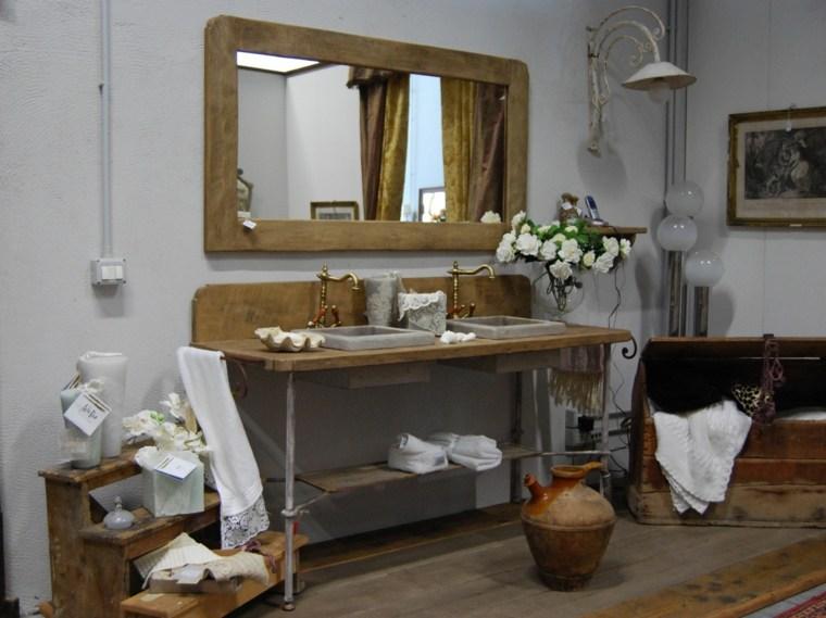 decoracion de baños diseno rustico madera ideas