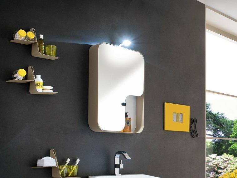 decoracion de baños estantes modernos ideas