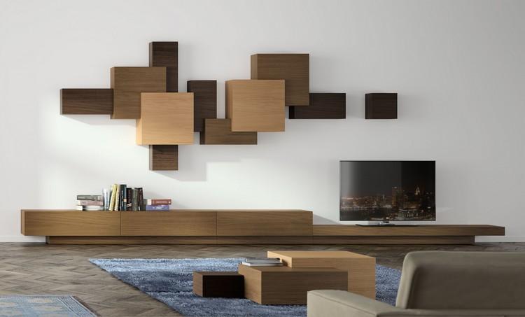 decoración de paredes muebles forma original ideas