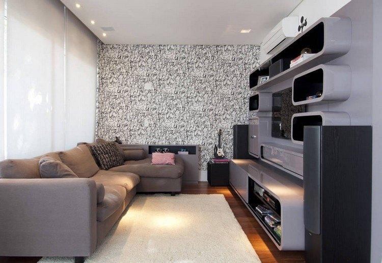 decoración de paredes muebles forma ovalada ideas