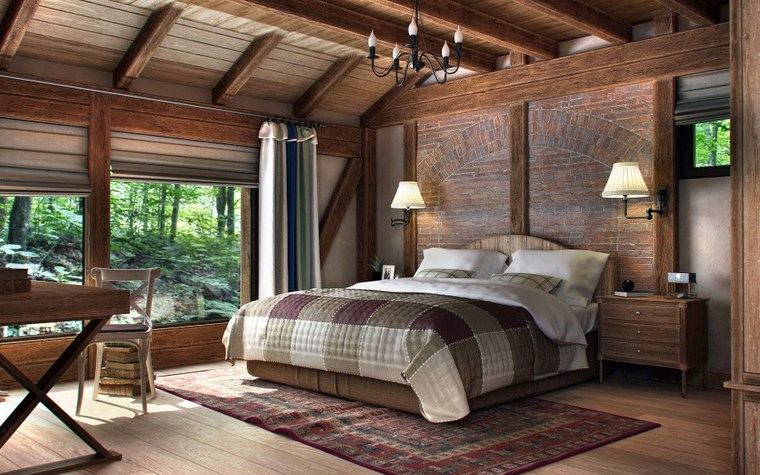 decoracion-dormitorios-moderno-alfombra-ladrillo-pared