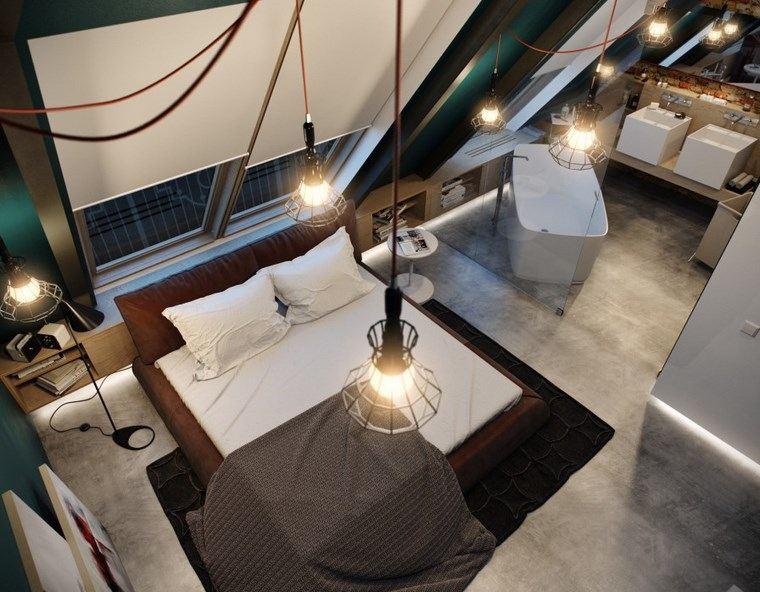 decoracion dormitorios moderno alfombra negra ideas