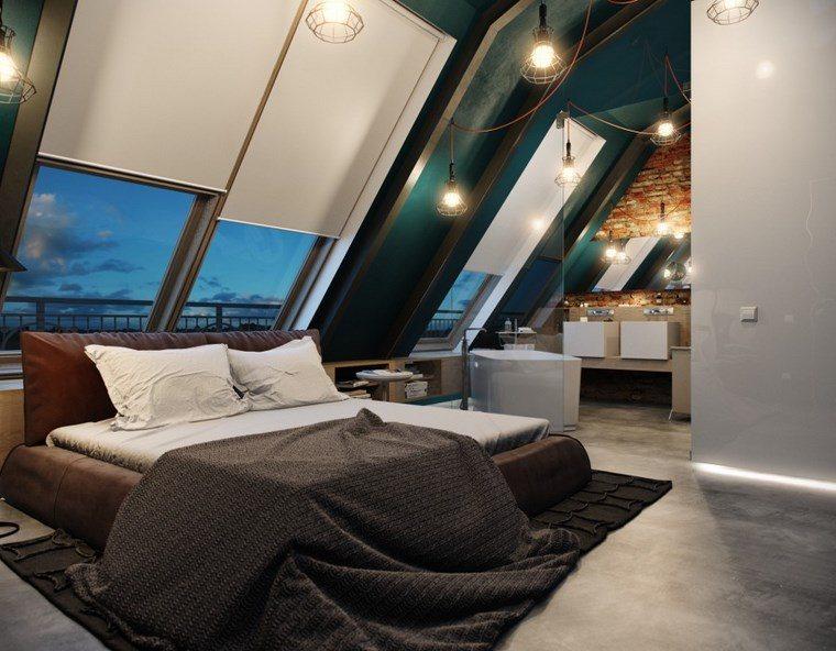 decoracion dormitorios moderno cama cuero marron ideas