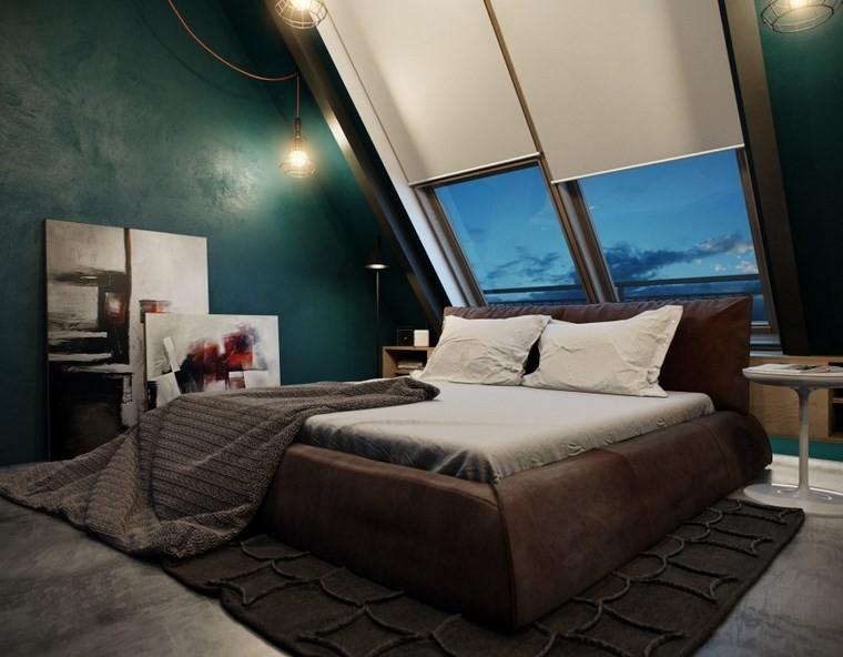 decoracion dormitorios moderno cama grande estores blancos ideas