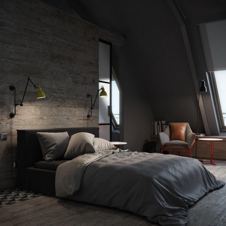 decoracion dormitorios moderno color oscuro ideas