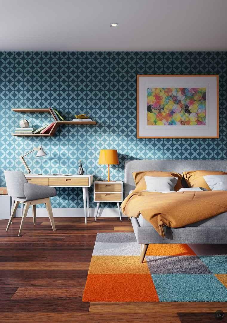 decoracion dormitorios moderno colores vibrantes ideas