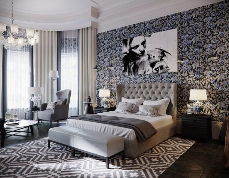 Decoracion dormitorios 100 dise o apasionantes - Dormitorio en blanco y negro ...